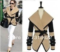 Free shipping 2013 new british style victoria personalized fashion wool coat women elegant wool jacket overcoat