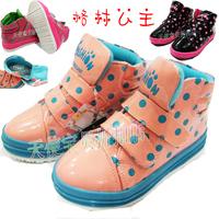 2013 female child leather green princess child leather shoes girls shoes single shoes female child boots
