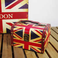British style torx flag box jewelry box cosmetic box vintage props
