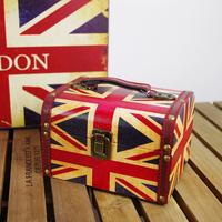 British style torx flag box jewelry box cosmetic box vintage props
