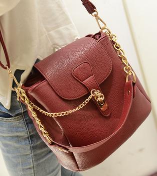 1295 Free Shipping !2013 all-match fashion bucket bag chain one shoulder handbag leather bags women  shoulder bag messenger bag