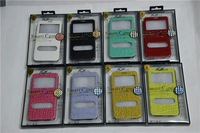 10pcs/lot Luxury Croco Pattern Flip Leather Smart Case Stand Cover with Open View Window for Samsung Galaxy Note 3 N9000