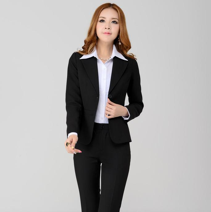 Original  Office Women Work Wear Trouser Suit Plus Sizein Pant Suits From Women