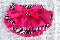 Free shipping satin & zebra Baby bloomer Child bloomer Kids bloomer Girls bloomer Princess bloomer Baby clothing baby girls pant