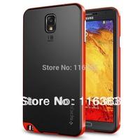 SGP SPIGEN NEO Hybrid Plastic frame TPU Soft Rubber Case Cover for Samsung Galaxy Note 3 mobile phone bag 6 Colors