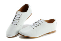 2013 new women's shoes retro shoes British style casual flat oxford shoes white wild
