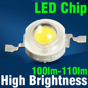 50pcs/lot 1w / 3w LED Chip High Brightness 100lm-110lm Warm White/cool white Energy Saving Lamp Beads Bulbs Free shipping