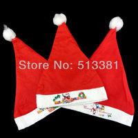 12PCS/lot Ordinary Cheap Non-woven Children Christmas Hat SANTA CLAUS Cap Hat Christmas gifts decorations Approx.20G EL-001
