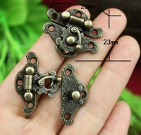 2014 Direct Selling Freeshipping 23 * 23mm Special Small Box Packing Buckle Antique Wooden Gift Lock Alloy