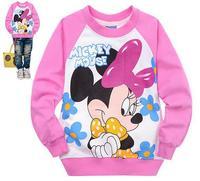 xlbb12 new 2014 casual children hoodies 2-8 age minnie mouse girls sweatshirts 6pcs/ lot free shipping