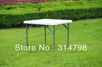 Portable Picnic Table, Outdoor Plastic Table for Camping, Small Folding Table