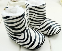 2013 New arrival Hot Sale high quality zebra Baby Snow Boots,Baby Winter Shoes,Baby Warm Footwear,Infant Shoes