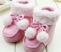 two color New Winter Baby  Boots Booties/Infant Unisex Soft Sole Warm Velvet Shoes/First Walker 3-18 Months
