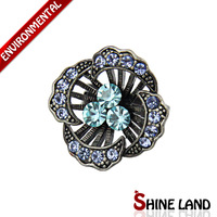 Free Shipping Mix Color Wholesale 2013 Hot Sale Vintage Crystal Colorful Charm Flowers  Statement  Adjustable Rings Jewelry