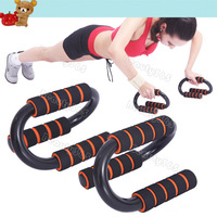 New 1 Pair S Shaped Push-up Stand Muscle Building Home Fitness Equipment 14988