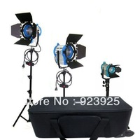 As ARRI 650W 300W 500W 150W Fresnel Tungsten Lights Bulbs Stands Case Kit