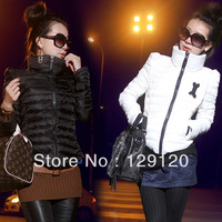 2013 turtleneck short design slim down coat wadded jacket cotton-padded jacket thermal women's outerwear