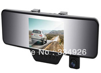 Free shipping NC-V110K rear view mirror  4.3 inch screen with bluetooth 1080p car camera