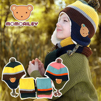 Fall/winter 2013 the new Korean Teddy bear buttons double plus child Hat wool thick child Hat