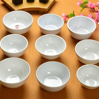 Quality porcelain small rice bowl white porcelain melamine tableware hot pot sauce bowl
