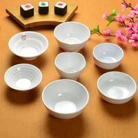 Thread melamine rice bowl fine white porcelain tableware chinese style podjarka dessert bowl