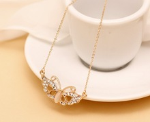 Top Quality Cat s Eye Mask Necklace Plated Real Gold Jewlery Women Fashion 2013 Free Shipping