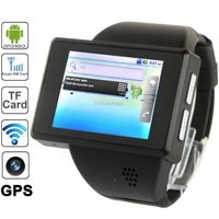 Z1 Black,Android Watch Phone with WiFi GPS Bluetooth Function,2 inch Capacitive Touch Screen,Quad band,GSM850/900/1800/1900MHz