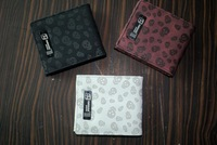 Mastermind wallet male women's classic clip personalized 811 skull scrub red black and white
