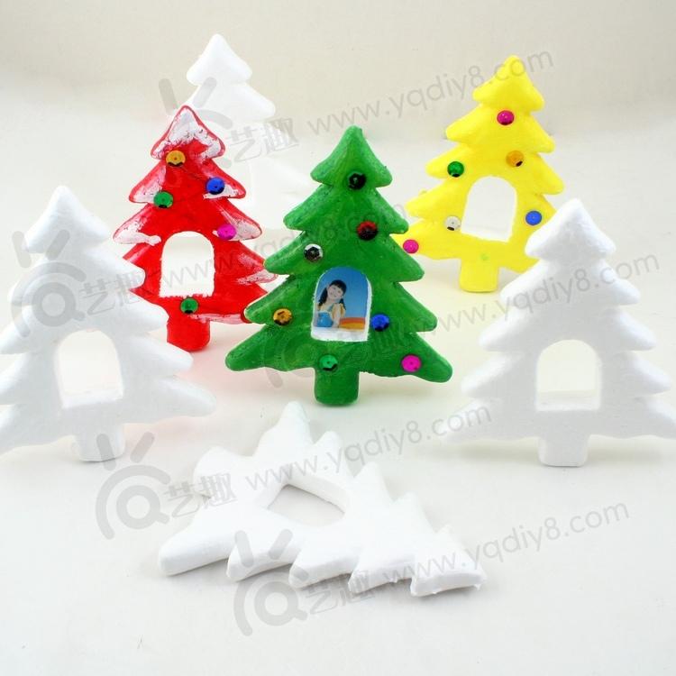Handmade materials handmade diy the infant child handmade diy eps christmas tree photo frame(China (Mainland))