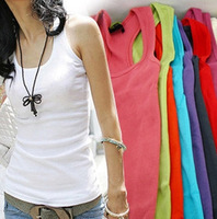 Free Shipping Tank Topstemperament Cotton Quality Guarantee Cotton Mix Color
