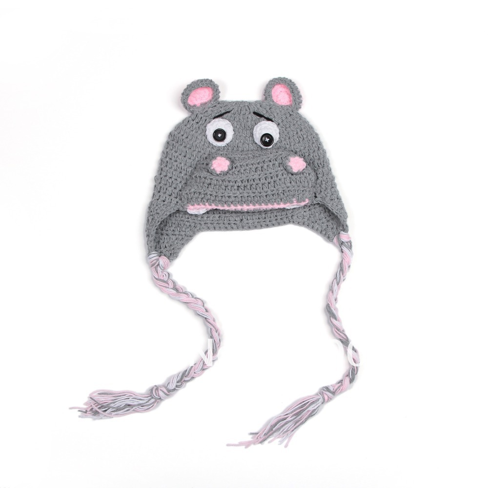 handmade knitted hat for baby boy girl toddler high quality crochet hat for infant animal model hat for baby XDT-023(China (Mainland))