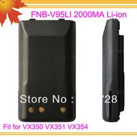 10pcs/lot DHL freeshipping free FNB V95LI for transceiver VX350 VX351 VX354 2000mAh Li-ion interphone battery cell