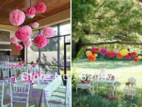 Wholesale 100pcs paper flower ball 30cm(12 inch) Tissue paper pom poms Craft Paper Flower Decoration for wedding flower