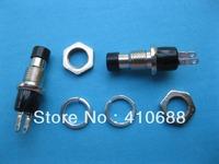 12 pcs Black Cap SPST Mini Push Button Momentary Switch 125V/6A 250V/3A
