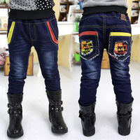 2013 autumn and winter personality boys clothing baby child long trousers jeans kz-2615