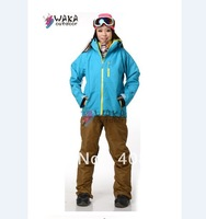 FREE SHIPPING , 2013 NEW ARRIVE !! IN STOCK  WAKA-02 BLUE color Waterproof ,Breathable windproof winter skiing jacket for women