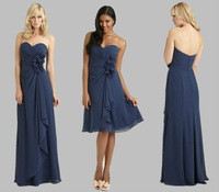Free shipping elegant chiffon bridesmaid dress for wedding