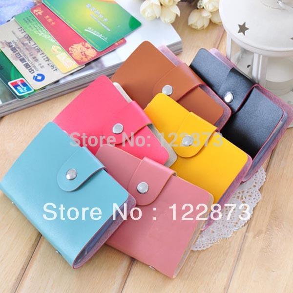 Fashion Cute Womens Wallet Holder Pocket Business ID Card Credit Bag Case Box Free shipping & drop shipping CY0715(China (Mainland))