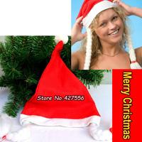 Free Shipping 12pcs/lot Christmas Thing Santa Claus Hat Braid Christmas Products Decoration 2013 Christmas Gifts Braid Hats