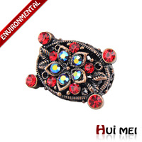 Free Shipping Mix Color Wholesale New Fashion Women Vintage Colorful Rhinestone Statement Charms Rings SR029