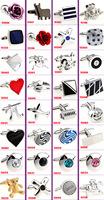free shipping fashion cuff links for mens 40pcs/lot  Novelty Cufflink wedding Cufflink trendy Cufflinks Can be mixed batch