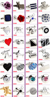 free shipping fashion cuff links for mens 40pcs/lot  Novelty Cufflink wedding Cufflink trendy Cufflinks Can be mixed batch