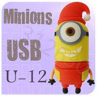 Hot sale U12 Despicable Me 2 Minions Cartoon U Disk 256MB 4GB 8GB 16GB 32GB 64GB USB 2.0 Flash Memory Stick Gift USB Flash Drive