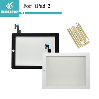 100% original touch For Apple ipad 2 glass touch digitizer screen replacement free shipping free adhensive