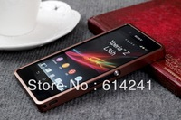 2013 New Arrival high quality Aluminum Metal Frame Bumper Hard Case for Sony Xperia Z L36h with Retail Box