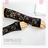2013 Free shipping,knit stretch glovesSummer sunscreen gloves design long lace gloves women's thin slip-resistant gloves anti-uv