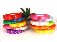 "5/8"" 1.5mm*100yards/lot Polka Dots Printed satin ribbon polyester ribbon for DIY flower,Gift packaging , free shipping"