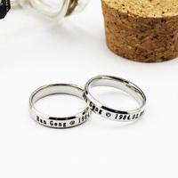 Super junior birthday logo mark of han titanium glue ring