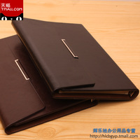 Shipping free! Office stationery faux leather notebook b5 a5 commercial loose-leaf notebook logo