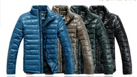 free shipping 2014 spring men's down jacket wreversible men's clothing two sides outerwear coats  down jacket men 299